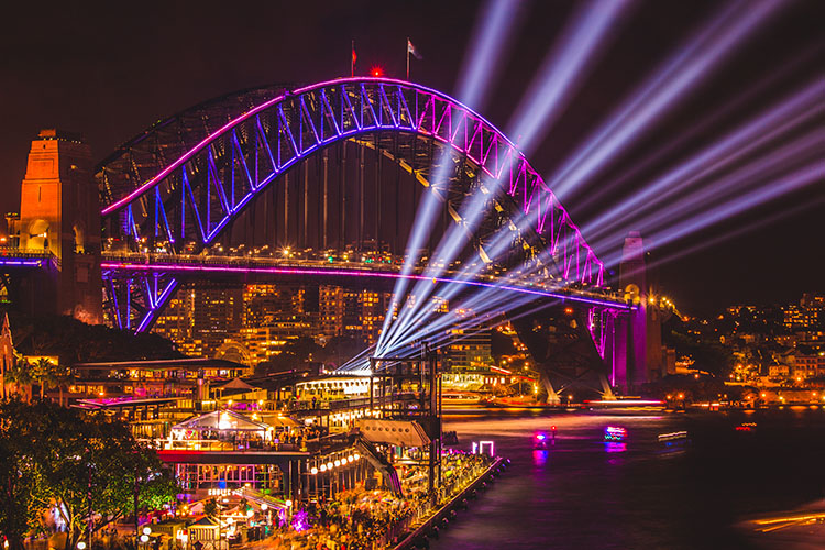 Sydney Harbour Bridge Vivid