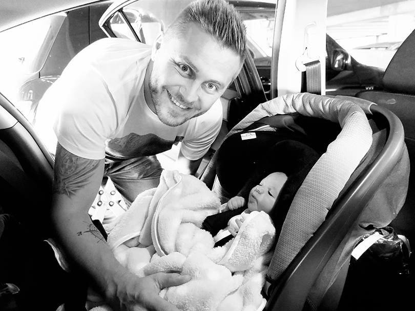 taking baby home from hospital