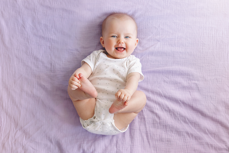 4 month old baby smile