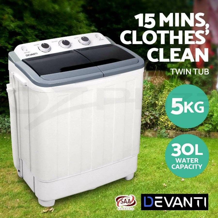 Devanti 5KG Portable Washing Machine