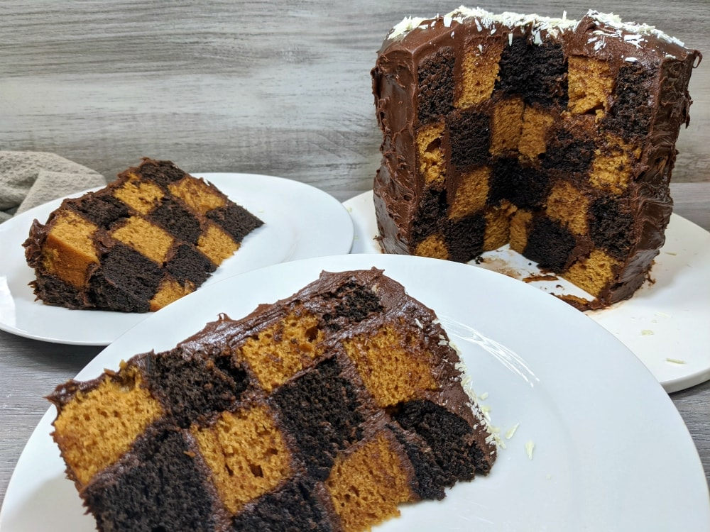 easy checkerboard cake