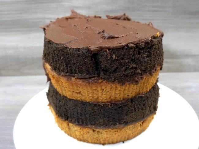 checkered layer cake